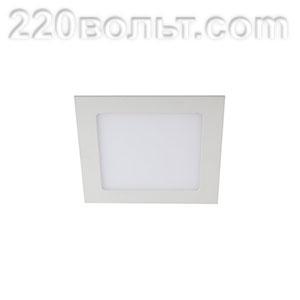 Светильник LED 2- 9 квадратный врезной 9W 220V 6500K ЭРА