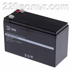 Аккумулятор GS1270/1207 (Cвинцово-кислотный 12V 7) ЭРА