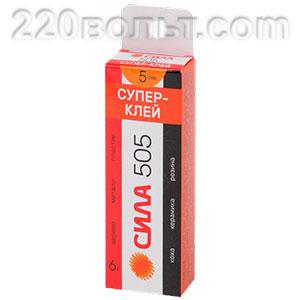 Клей- супер 505 6 г пластик туба в кор. 505-6 СИЛА